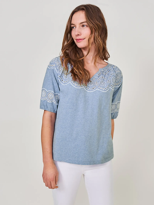 Top Kerry Lace Puff Sleeve