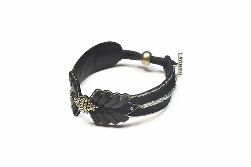 NAHUA - Bracelet COLOMBE Black