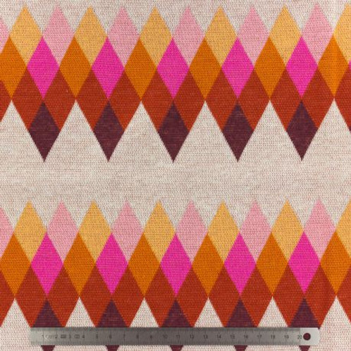 Tissu jersey Sweat - BLISS Jacquard  x10 cm