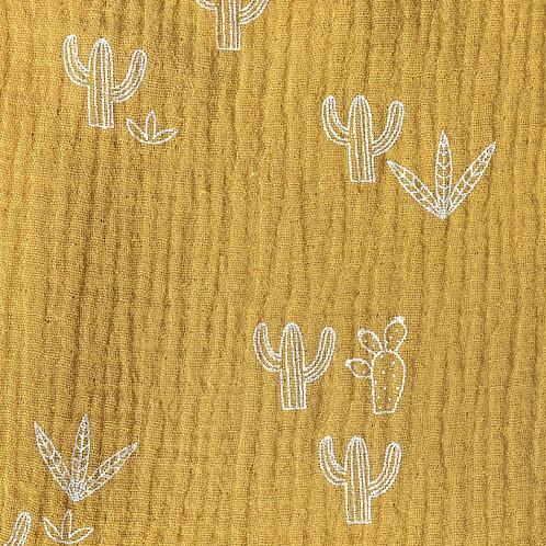 Tissu Mousseline Cactus  x10cm