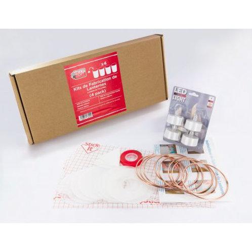 Kit de fabrication de 4 lanternes led 10cm
