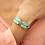 Thumbnail: NAHUA - Bracelet COLOMBE Turquoise