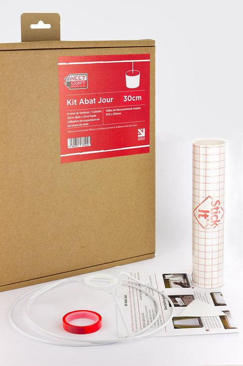 Kit de fabrication d'abat-jour cylindre diam 30cm