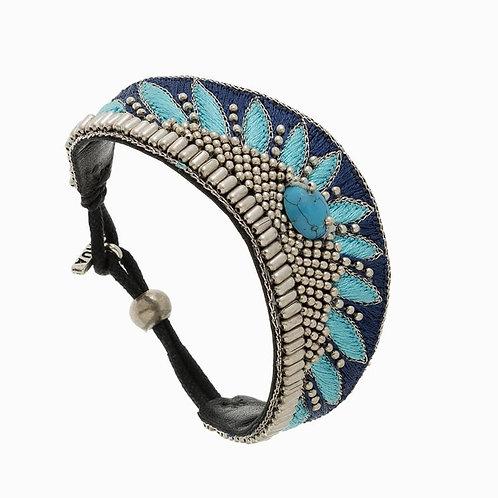 Copie de NAHUA - Bracelet BRUNA Marine/Turquoise