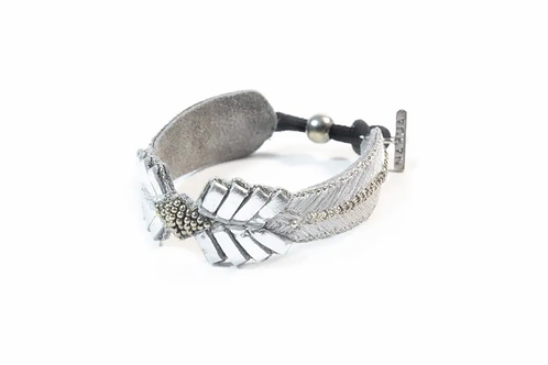 NAHUA - Bracelet COLOMBE Silver