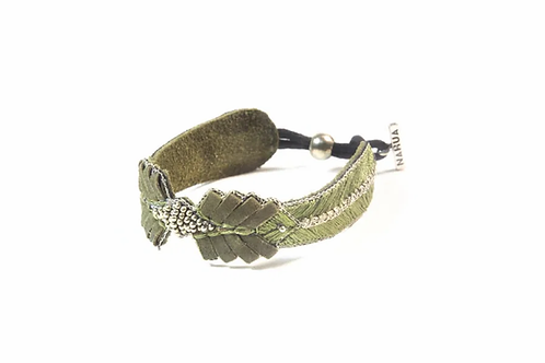 NAHUA - Bracelet COLOMBE Kaki