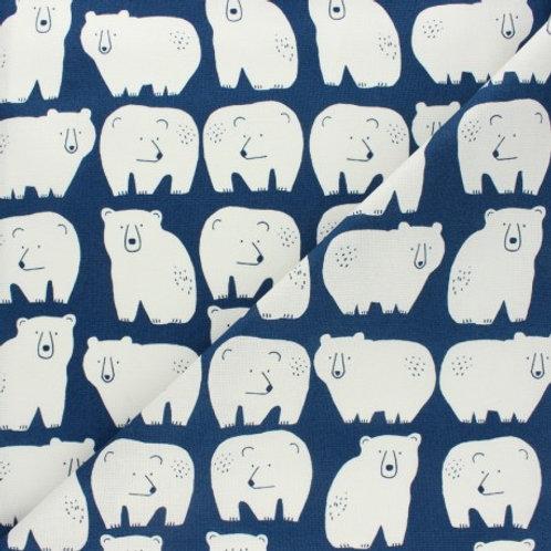 Tissu coton Dashwood Studio Laska - Ours blanc x 10cm