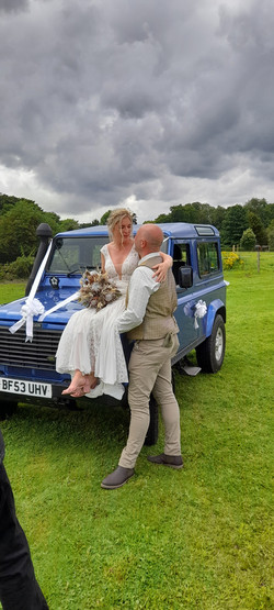 Land Rover Weddings, Front Shot