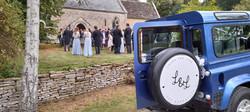 Land Rover Wedding Outside the Church .jpg