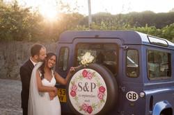 Bride & Groom Wedding Car Land Rover Defender Monty