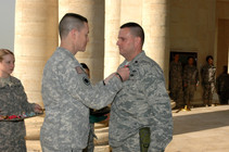 Receiving the Bronze Star Medal