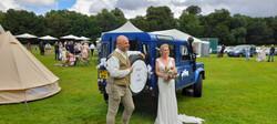 Land Rover Defender Weddings - Ranch Couple