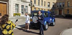 Lucky Couple Land Rover Wedding Car