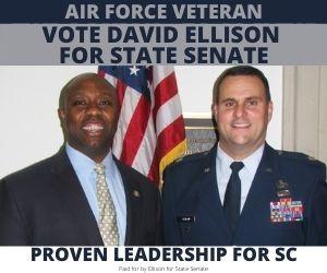 Senator Tim Scott and Lt Col David Ellison, USAF