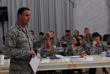 Lt Col Ellison in the Iraqi Palace 2015