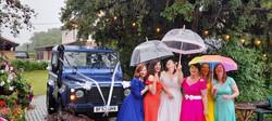 Land Rover Wedding Car Bridesmaid
