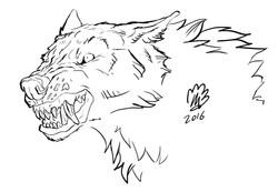Wolf Line-art