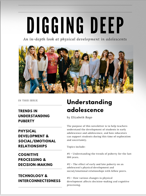 Resources for Parents & Teachers: Physical development in adolescents