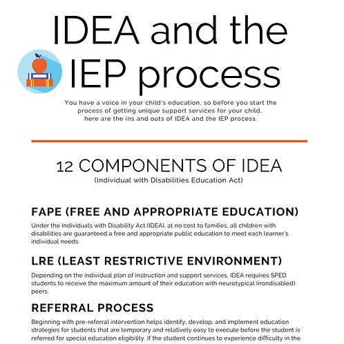 Resources for Parents & Teachers: IDEA & the IEP Process Explained