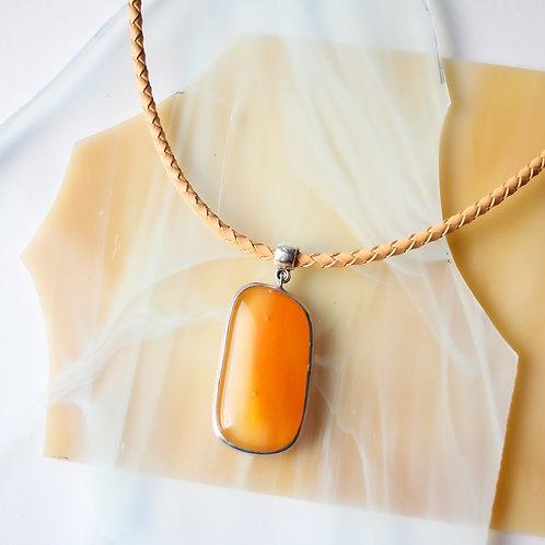 Кулон 'Ярко-персиковый'