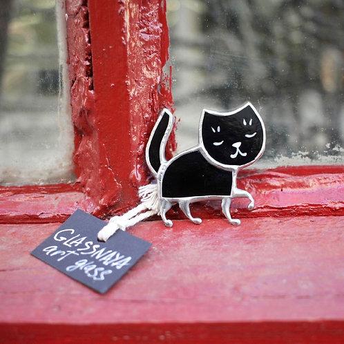 Брошка 'Кошка, гуляющая сама по себе'