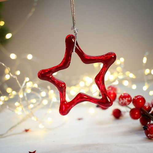 Новогодняя игрушка 'Звезда' (красная)