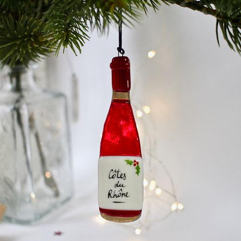 Новогодняя игрушка 'Бутылочка вина'