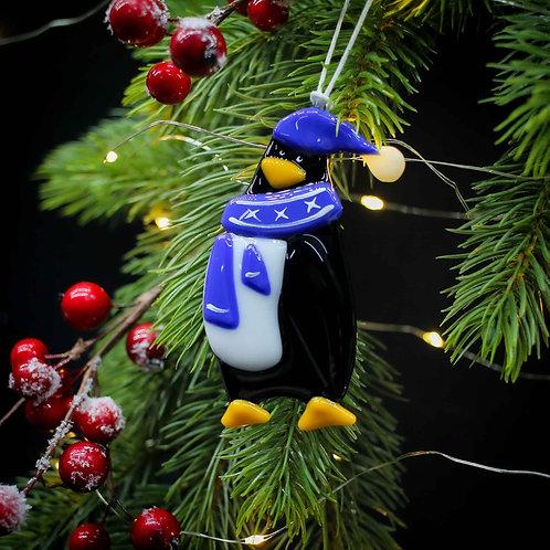 Новогодняя игрушка 'Пингвин' (синий шарфик)