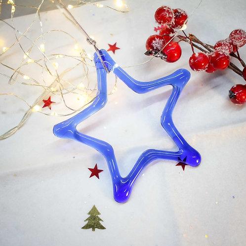 Новогодняя игрушка 'Звезда' (синяя)