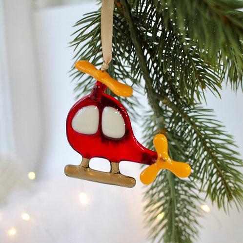 Новогодняя игрушка 'Вертолёт'