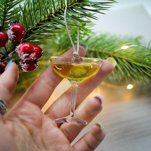 Новогодняя игрушка 'Бокал-креманка'