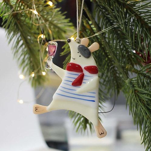 Новогодняя игрушка 'Мышь Жерар'
