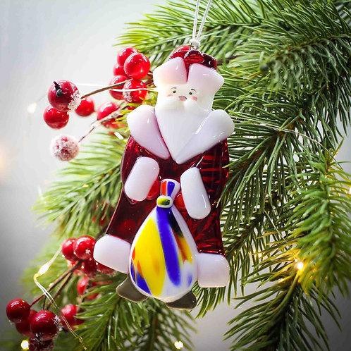 Новогодняя игрушка 'Дед Мороз' (красная шубка)