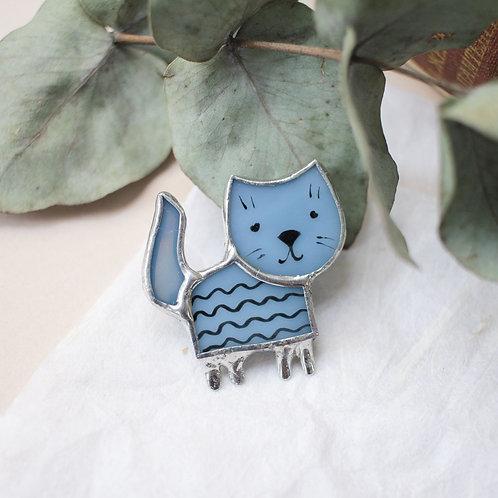 Брошка 'Маленький полосатый котик'