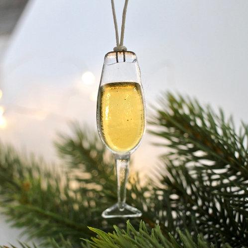 Новогодняя игрушка 'Бокал шампанского'