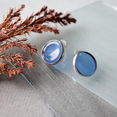 Серьги 'Круги' (голубые)