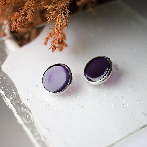 Серьги 'Круги' (фиолетовые)