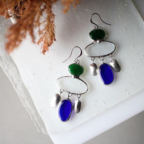 Серьги 'Сине-зелёные'