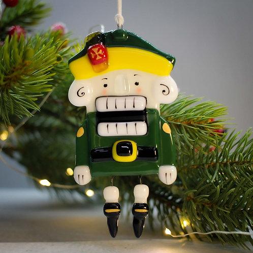 Новогодняя игрушка 'Щелкунчик' (зелёный)
