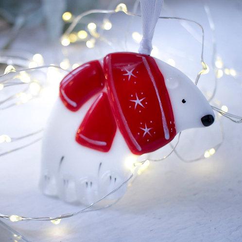 Новогодняя игрушка 'Белый мишка'