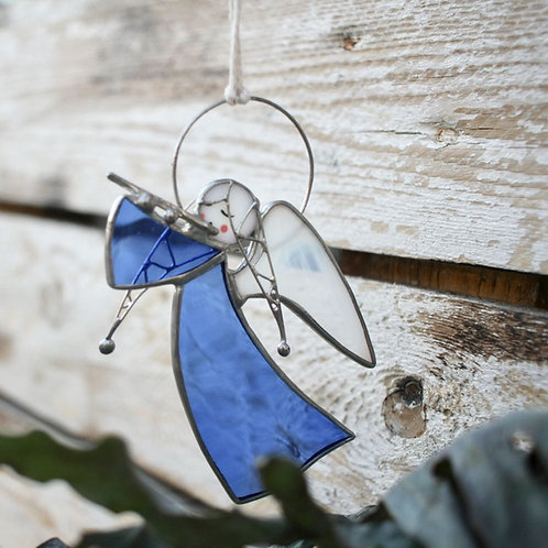 Витражная подвеска 'Ангел с флейтой'