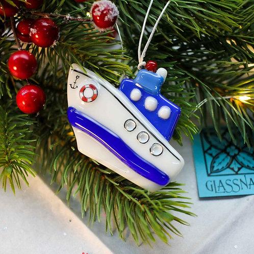 Новогодняя игрушка 'Крейсер' (синий)