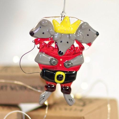 Новогодняя игрушка 'Мышиный король' (прозрачный)