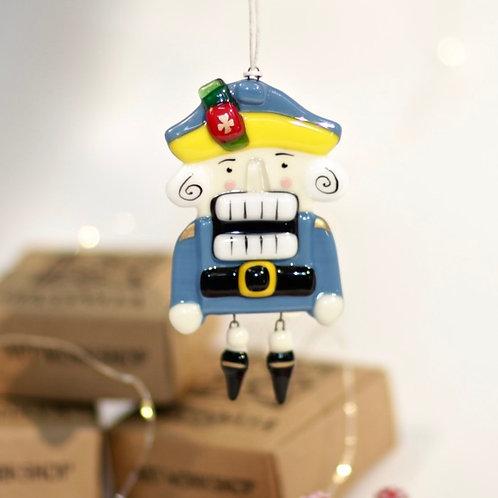 Новогодняя игрушка 'Щелкунчик' (синий)