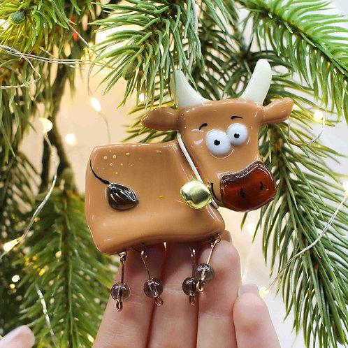 Новогодняя игрушка 'Карамельный бычок'