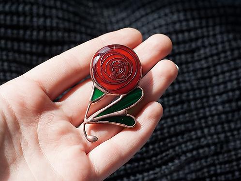 Брошь 'Роза'