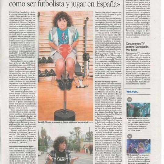 NEW press article Ser actor y vivir en L