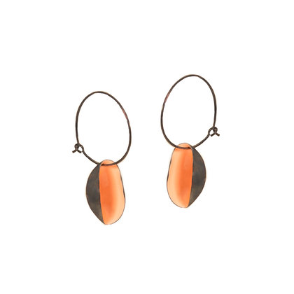 LIGHT CORAL SMALL PISTACHIO EARRINGS