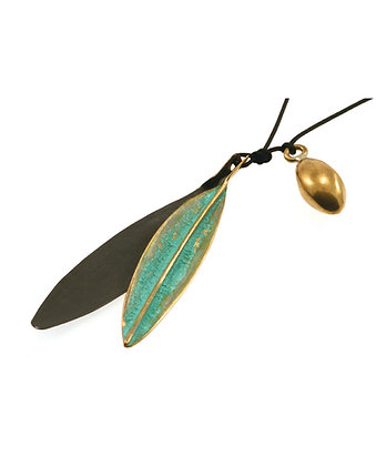 2797 - OLIVE LEAVES NECKLACE.
