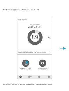 Identity Guard for Mobile - Native App - Dashboard Wire